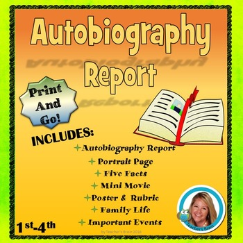 Autobiography Project Report - All About Me Print and Go
