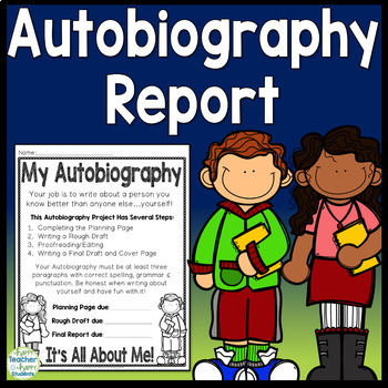 Autobiography Report: Includes Planning Page, Rubric, Cover Page & More!