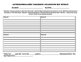 Autobiography Student Planning Sheet
