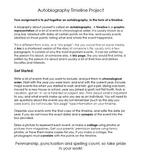 Autobiography Timeline ~ Language Arts Social Studies Art