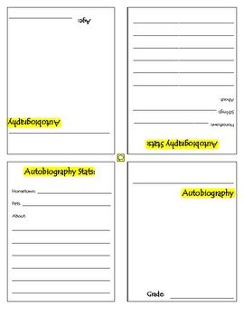 Autobiography Trading Cards Template, Lesson, and Scoring Guide | TpT