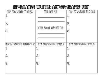 Autobiography Unit