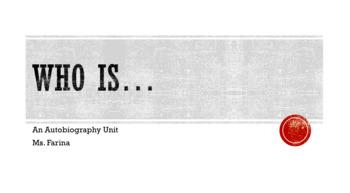 Autobiography Unit (All About Me)