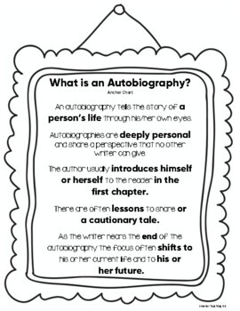 Autobiography Unit: Writing Nonfiction Chapters