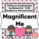 Autobiography Writing Nonfiction Chapters CCSS Grades 3-6