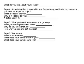 Autobiography Writing Lesson Plan and Materials