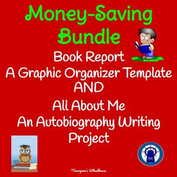 Autobiography Writing Project and Book Report Template Bundle