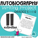 Autobiography Writing Project for grades 5-8