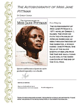 Autobiography of Miss Jane Pittman check quizzes and discussion questions