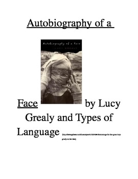Autobiography of a Face by Lucy Grealy and Types of Language