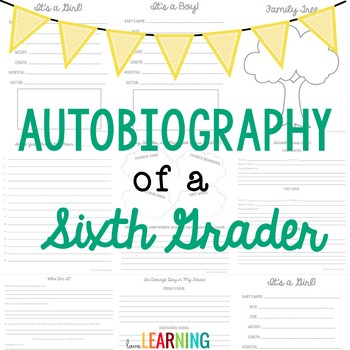 Autobiography of a Sixth Grader {A Memory Book Project}