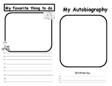 Autobiography template for writing