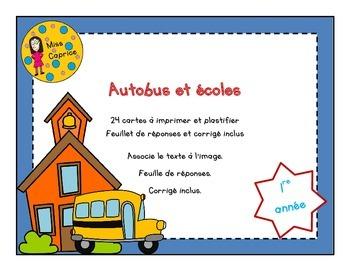 Autobus et écoles - 1re année