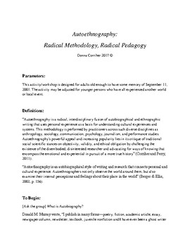 Autoethnography. Creating Awareness in Teachers and Adults