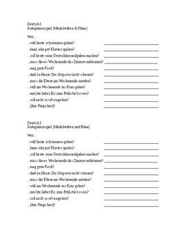 Autogrammspiel (mit Modalverben und Wortschatz zu Plänen)