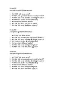 Autogrammspiel with reflexive verbs (GER 2)