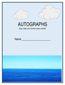 Ocean Autograph Book