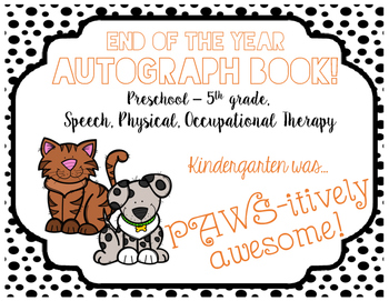 Autograph Book! (Cat & Dog)