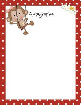 Autograph Book- Circus Theme