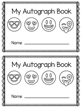 Autograph Book - Emoji