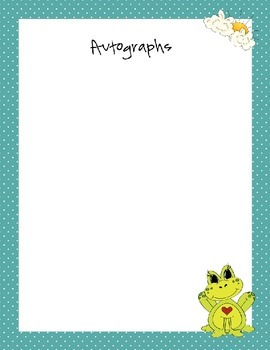 Autograph Book- End of the Year Fun