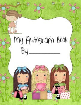 Autograph Book- Fishing and Shopping