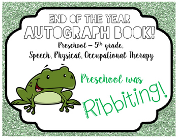 Autograph Book! (Frog)