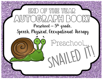 Autograph Book! (Snail)