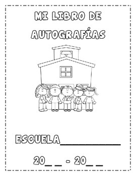 Autograph Book Template