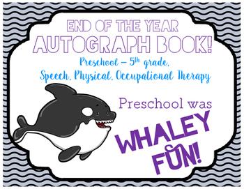 Autograph Book! (Whale)