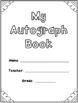 Autograph Book With Sentence Starters - End of Year Autograph Pages