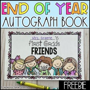 Autograph Book {freebie!}