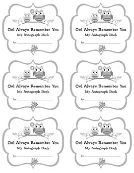 Autograph Book - fun goodbye sayings