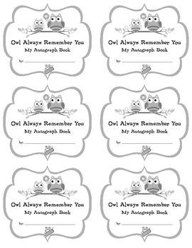 Autograph Book - fun goodbye sayings