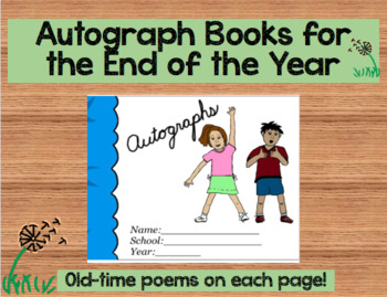 Autograph Books For the End of the Year