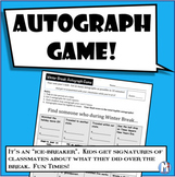 "Autograph Game - New Years (Post Winter Break, New Year) ""Find someone who..."""