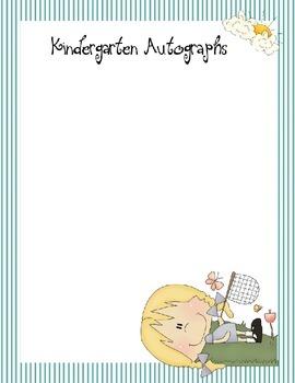 Autograph Kindergarten Book