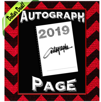 End of the Year Autograph Page- Dollar Deal!