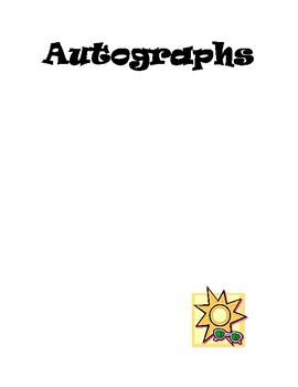 Autographs page