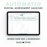 Automated Digital Assessment - Elementary Inventory  | Words Their Way (AUS/UK)