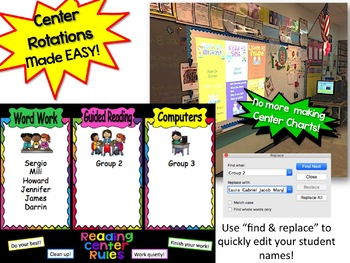 Automated Reading Rotation for 3 Guided Reading Groups Rainbow Design