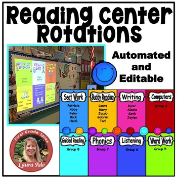 Automated Reading Rotation for 8 Guided Reading Groups Bright Smiles Design
