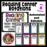 Automated Reading Rotation for 8 Guided Reading Groups Polka Dot Design
