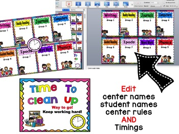 Automated Reading Rotation for 8 Guided Reading Groups Rainbow Design