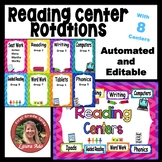 Automated Reading Rotation for 8 Literacy Centers with Chevron Design