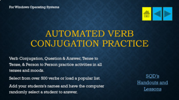 Automated Verb Conjugation Practice