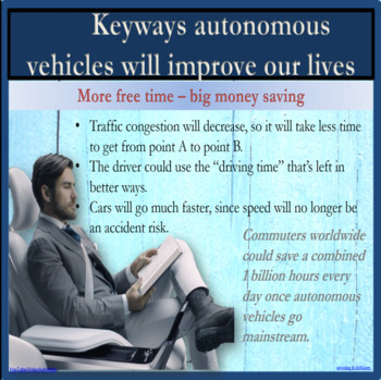 Automated cars – For and Against ESL, EFL, ELL adult debate lesson