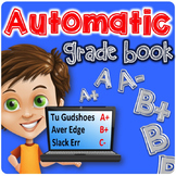 Automatic Grade Book | Excel Grade Book | Number Grades AND Letter Grades!