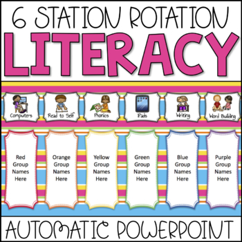 Automatic Literacy Center Rotation PowerPoint (Custom Request)