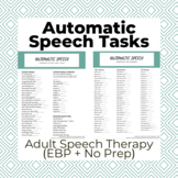 Automatic Speech Tasks: Aphasia, Adult Speech Therapy